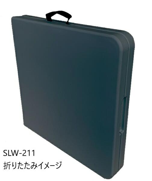 SLOWERアウトドア折りたたみテーブルFOLDINGTABLE(1220x600x740mm/オリーブ)SLW-212