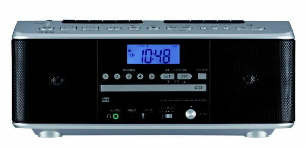 東芝TOSHIBACDラジカセTY-CDW990-SシルバーシルバーTY-CDW990-S[ワイドFM対応/CDラジカセ]