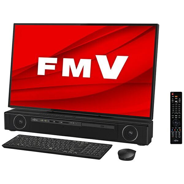 富士通FUJITSUFMVFXE2BデスクトップパソコンESPRIMOFH-X/E2オーシャンブラック[27型/HDD:3TB/Optane:16GB/SSD:256GB/メモリ:8GB/2020年夏モデル][27インチoffice付き新品一体型windows10]