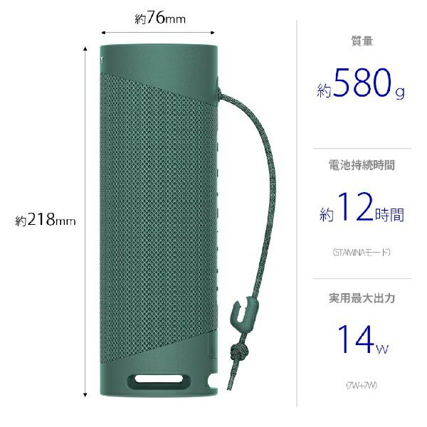 ソニーSONYブルートゥーススピーカーSRS-XB23GCグリーン[Bluetooth対応/防水]