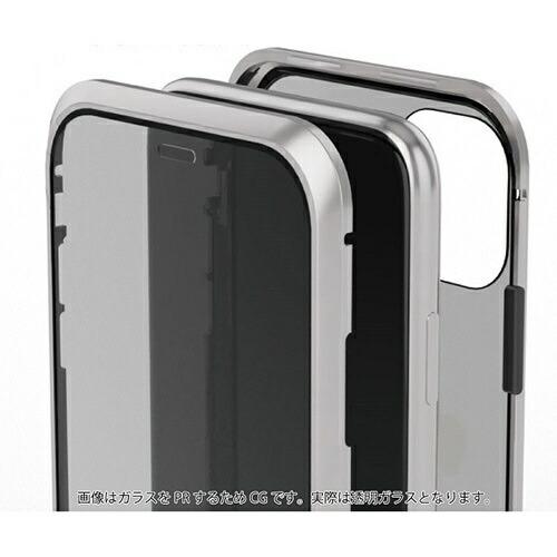 AREAエアリアiPhone11用360STRONG2ガラスパネルバンパーケースエアリアシルバーMS-B2G11-SL