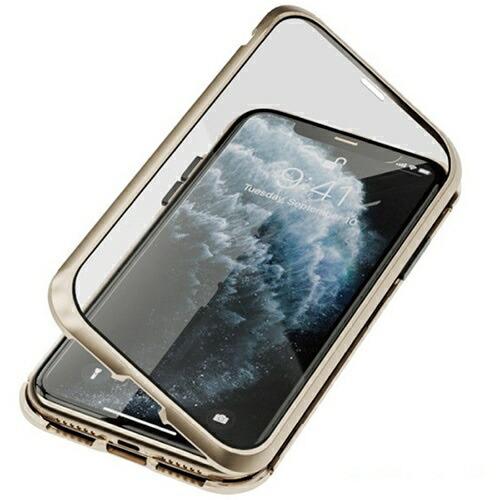 AREAエアリアiPhone11用360STRONG2ガラスパネルバンパーケースエアリアゴールドMS-B2G11-GD