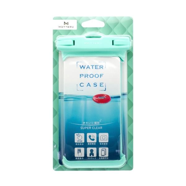 OWLTECHオウルテックMOTTERUスマートフォン用防水ケースIPX8取得で完全防水MOTTERUブルーグリーンMOT-WPC002-GB