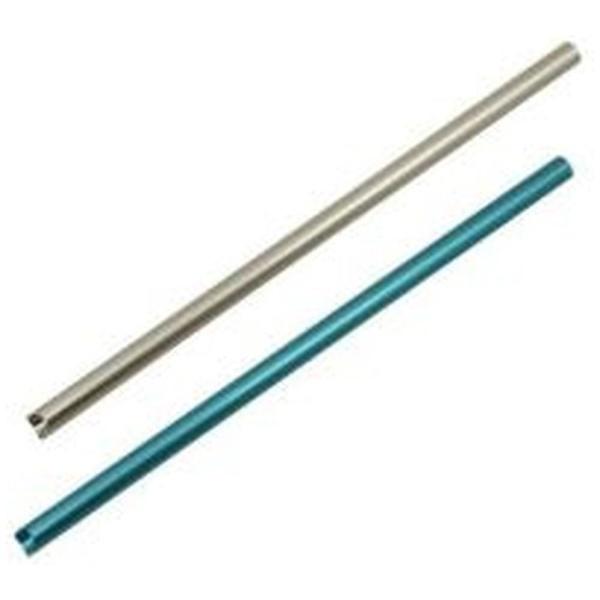 アイデアセキカワSEKIKAWAアルミクールストローショート(お掃除ブラシ付)SL/BLシルバー/ブルー