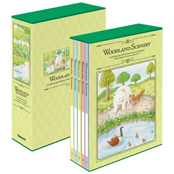 ナカバヤシNakabayashi5冊組ポケットアルバムL判480枚収納ウッドランドシーナリー5PL4801