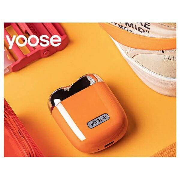 SHENZHENXIVODESIGNUSB充電式シェーバー[国内・海外対応]yoose(ヨーセ)オレンジYOOSE-ORANGE[回転刃]【rb_beauty_cpn】