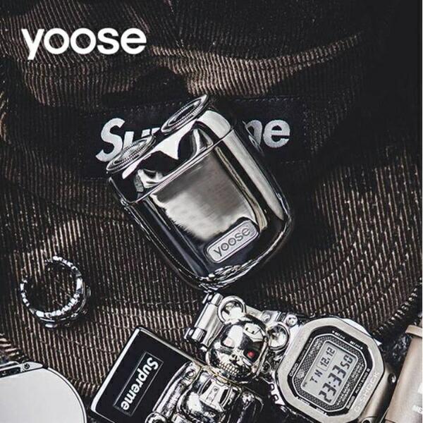 SHENZHENXIVODESIGNUSB充電式シェーバー[国内・海外対応]yoose(ヨーセ)グレーYOOSE-GRAY[回転刃]