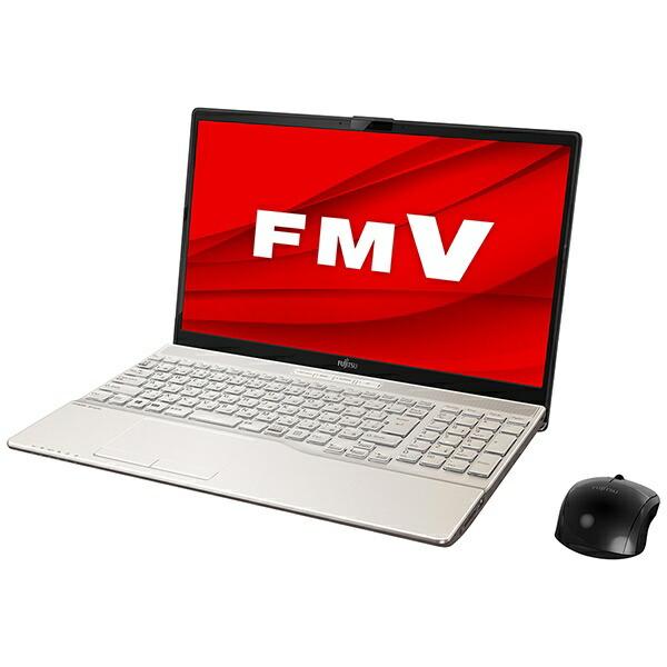 富士通FUJITSUFMVA53E2GノートパソコンLIFEBOOKAH53/E2シャンパンゴールド[15.6型/intelCorei7/SSD:512GB/メモリ:8GB/2020年6月モデル]