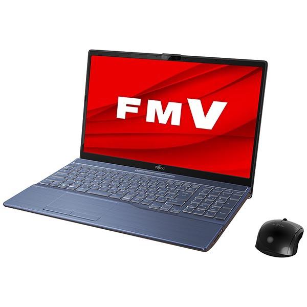 富士通FUJITSUFMVA77E2LノートパソコンLIFEBOOKAH77/E2メタリックブルー[15.6型/intelCorei7/SSD:1TB/メモリ:8GB/2020年6月モデル]
