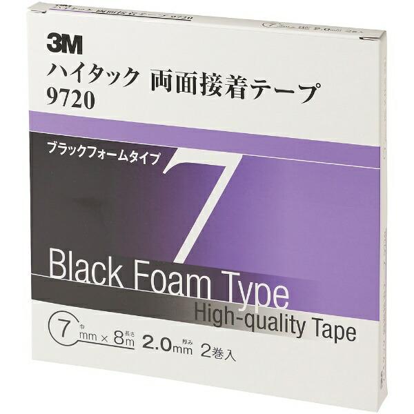 3Mジャパンスリーエムジャパン3Mハイタック両面接着テープ97207mmX8m黒2巻入り97207AAD