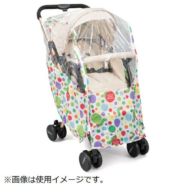 日本育児nihonikujiはらぺこあおむしベビーカーレインカバー(ドット柄)