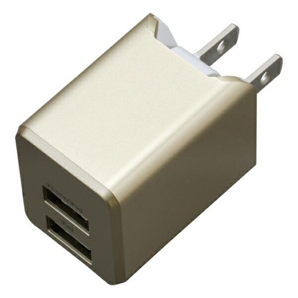 ティ・レイズTRCompanyAC充電器+Lightningケーブル1mPREMIUMゴールドBU2ULAN3410GD[USB給電対応/2ポート]