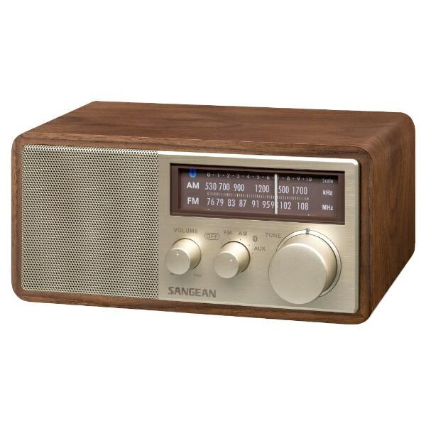 SANGEANFM/AMラジオ対応ブルートゥーススピーカーウォールナットWR-302[Bluetooth対応]