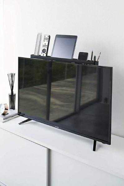 山崎実業Yamazakiスマートテレビ裏リモコンラックブラック(FlatScreenTvRemoteControllerRack)ブラック4879