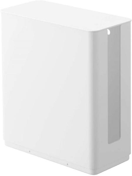 山崎実業Yamazakiスマート重ねられるスリム蓋付きルーター収納ケースホワイト(StackableRouterCaseSmartWH)ホワイト4913