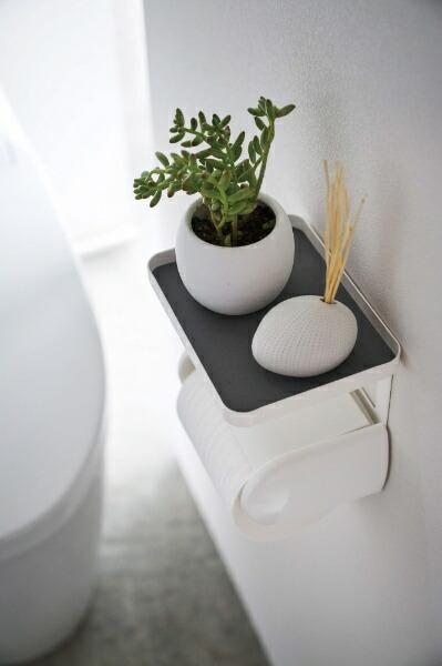 山崎実業Yamazakiトイレットペーパーホルダー上ラックプレートホワイト(ToiletPaperHolderRackPlate)ホワイト4435