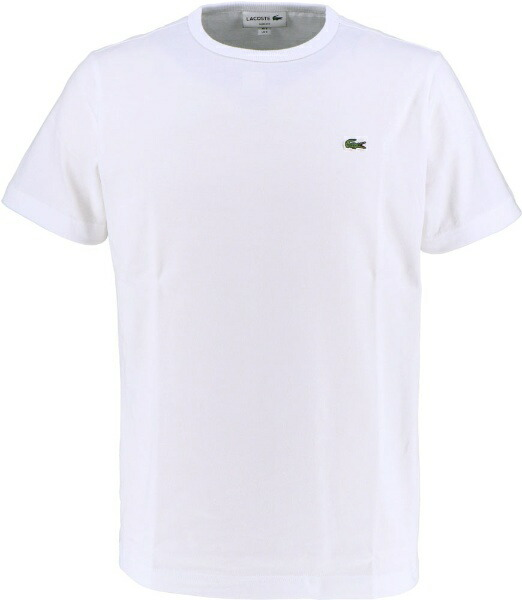 ラコステLACOSTEメンズウエアTシャツベーシッククルーネックTシャツ(半袖)(5(Lサイズ)/ホワイト)TH622EM