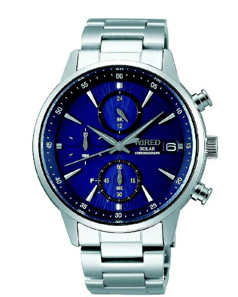 アルバALBA【ソーラー時計】ワイアード(WIRED)新型クロノグラフAGAD407[正規品]