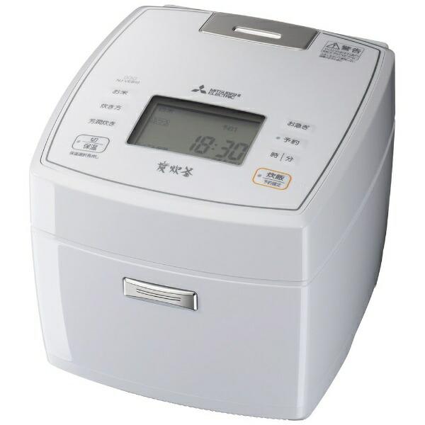 三菱MitsubishiElectric炊飯器炭炊釜月白(げっぱく)NJ-VEB10-W[5.5合/IH]【point_rb】