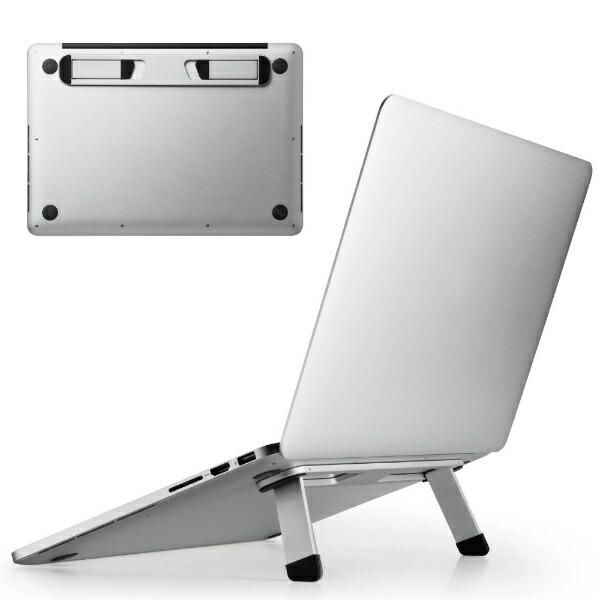 エレコムELECOMノートパソコンスタンド[13.3〜15.6インチ]折りたたみ装着式アルミシルバーPCA-LTSFASV