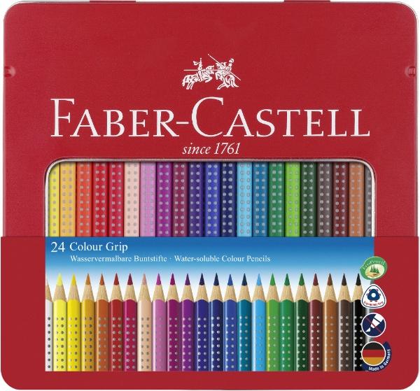 ファーバーカステルFaber-Castell24色カンカラーグリップ色鉛筆