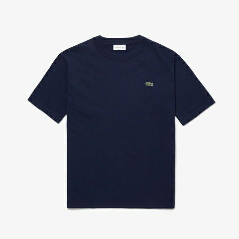 ラコステLACOSTEメンズウエアTシャツ成形横編みニットTシャツ(4(Mサイズ)/ネイビー)TH100EL