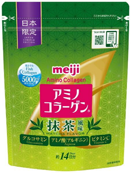 明治meijiアミノコラーゲン抹茶風味98gアミノコラーゲン