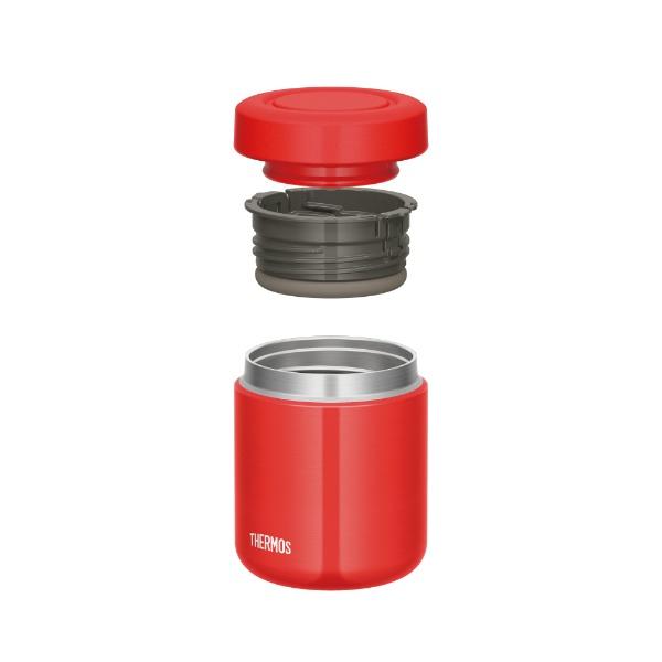 サーモスTHERMOS真空断熱スープジャー300mlレッドJBR-300
