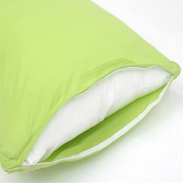 小栗OGURI枕カバー綿ニットカラー43×120cm綿100%グリーンNT43120-53