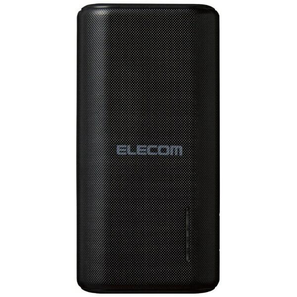 エレコムELECOMモバイルバッテリー/おまかせ充電対応ブラックDE-C23L-6700BK[6700mAh/2ポート/充電タイプ]