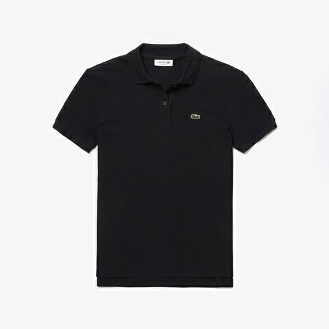 ラコステLACOSTEレディースポロシャツコットン100%ピケポロシャツ(半袖)(36(Mサイズ)/ブラック)PF7839M