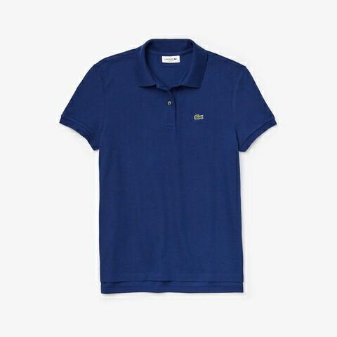ラコステLACOSTEレディースポロシャツコットン100%ピケポロシャツ(半袖)(36(Mサイズ)/コバルトブルー)PF7839M