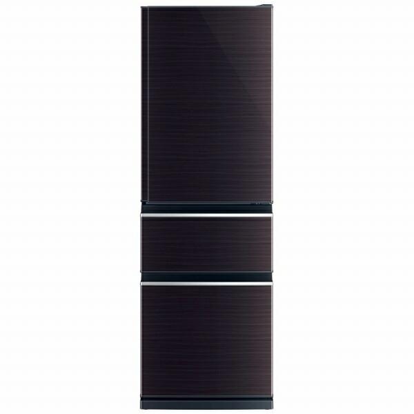 三菱MitsubishiElectric《基本設置料金セット》冷蔵庫CXシリーズグロッシーブラウンMR-CX37F-BR[3ドア/右開きタイプ/365L]【zero_emi】