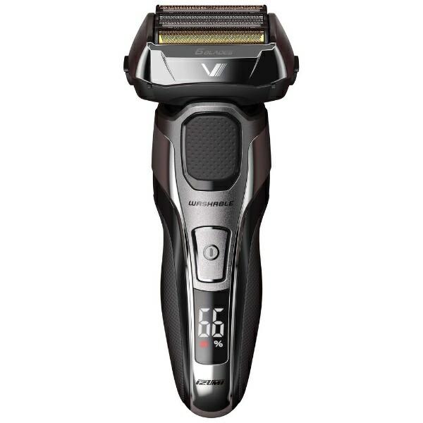 IZUMIイズミメンズシェーバー[国内・海外対応]ハイエンドシリーズZ-DRIVEシルバー(S)IZF-V950-S[6枚刃/AC100V-240V][電気シェーバー男性髭剃り]