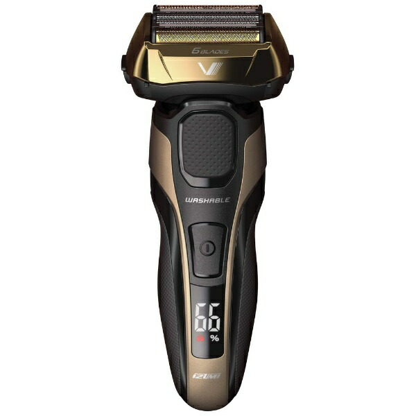 IZUMIイズミメンズシェーバー[国内・海外対応]ハイエンドシリーズZ-DRIVEゴールド(N)IZF-V990-N[6枚刃/AC100V-240V][電気シェーバー男性用髭剃り]