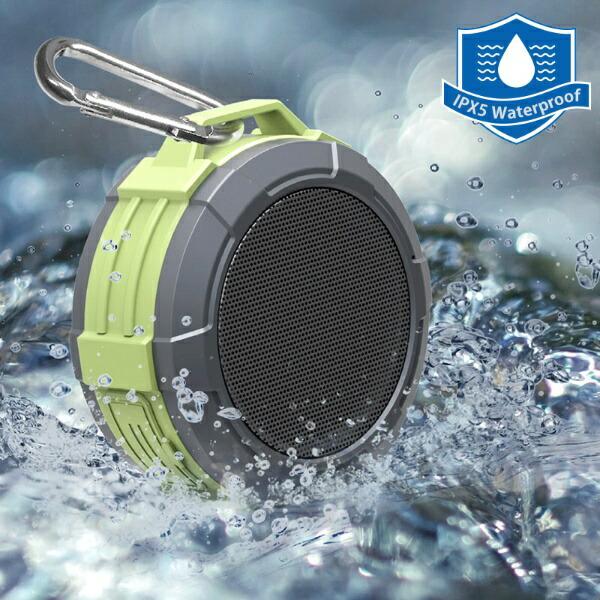 オーム電機OHMELECTRICワイヤレスアウトドアスピーカーAudioCommグリーンASP-W170N[Bluetooth対応]