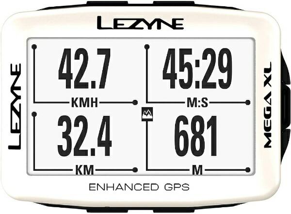 LEZYNEレザインGPSサイクルコンピューターMEGAXLGPS19SPEDITION(ホワイト)57_3701100110