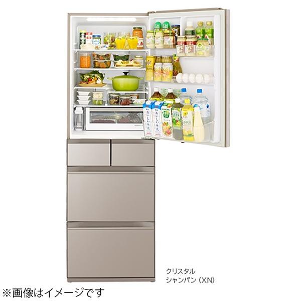 日立HITACHI《基本設置料金セット》冷蔵庫HWSタイプクリスタルシャンパンR-HWS47N-XN[5ドア/右開きタイプ/470L]【zero_emi】