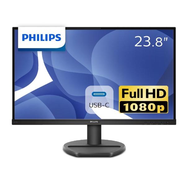 フィリップスPHILIPSUSB-C接続PCモニターブラック243S9A/11[23.8型/ワイド/フルHD(1920×1080)]