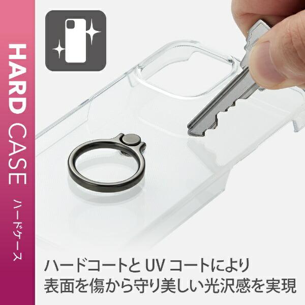 エレコムELECOMiPhone12mini5.4インチ対応ハードケースリング付きゴールド