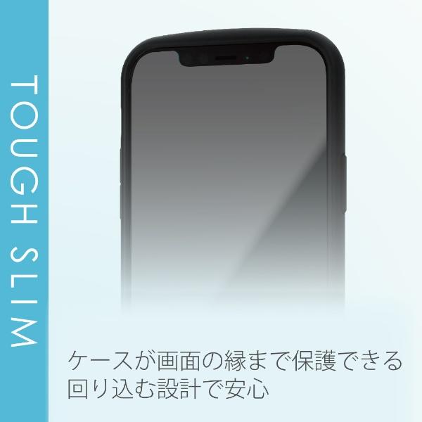 エレコムELECOMiPhone12/12Pro6.1インチ対応ハイブリッドケースTOUGHSLIMLITEフレームカラーリング付きピンク