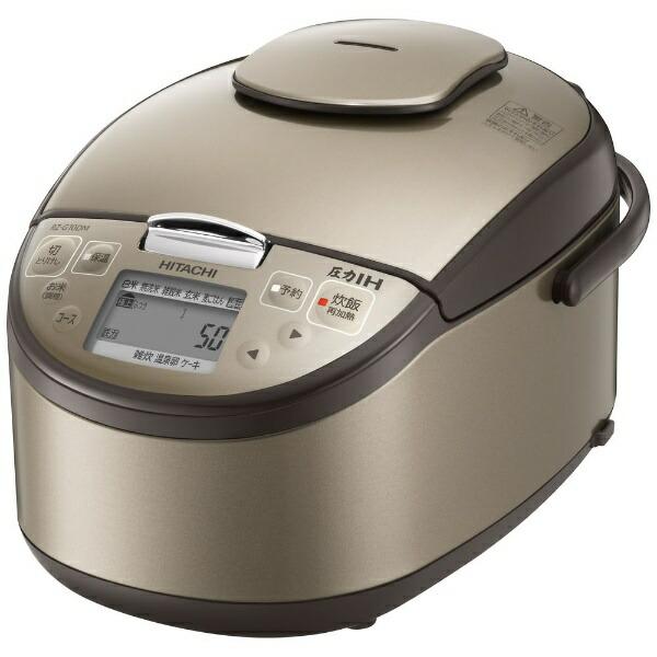 日立HITACHI炊飯ジャーライトブラウンRZ-G18DM-T[圧力IH/1升]