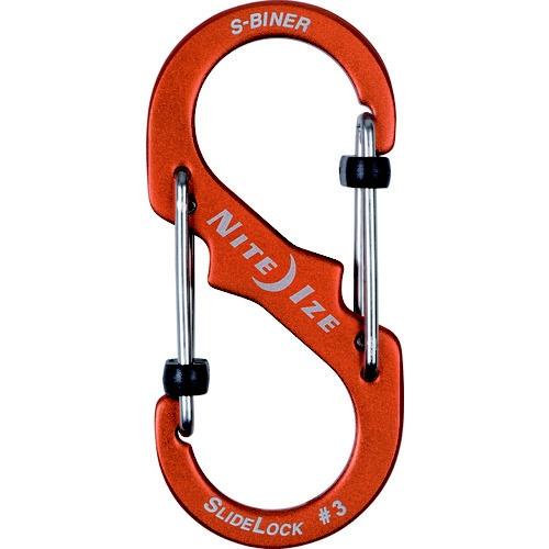 NITEIZEナイトアイズエスビナースライドロックアルミニウム#3(32×69mm/オレンジ)NI04182
