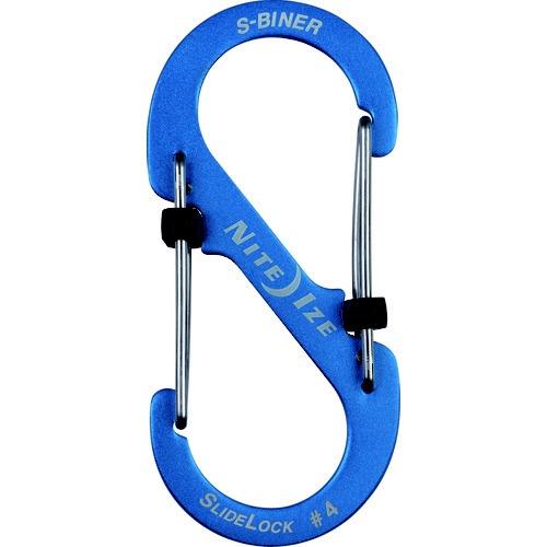 NITEIZEナイトアイズエスビナースライドロックアルミニウム#4(41×90mm/ブルー)NI04183