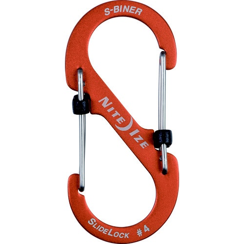 NITEIZEナイトアイズエスビナースライドロックアルミニウム#4(41×90mm/オレンジ)NI04186