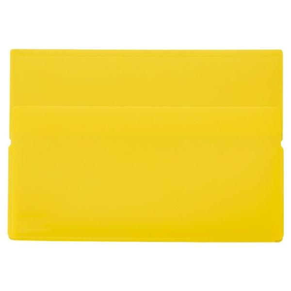 リヒトラブLIHITLAB.ワンタッチホルダーA5ワイド黄色F-3443-5