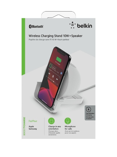 BELKINベルキンブルートゥーススピーカーAUF001DQWHホワイト[Bluetooth対応]