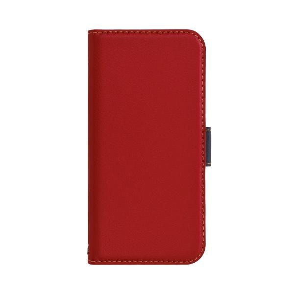 ラスタバナナiPhone12mini5.4インチ対応薄型手帳SMGレッド×ネイビー5603IP054BO