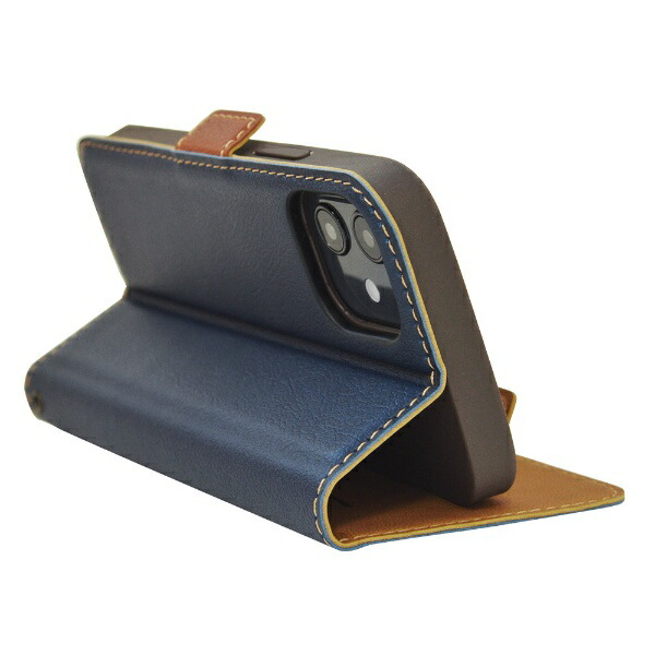 ラスタバナナRastaBananaiPhone12mini5.4インチ対応薄型手帳SMGネイビー×ブラウン5604IP054BO