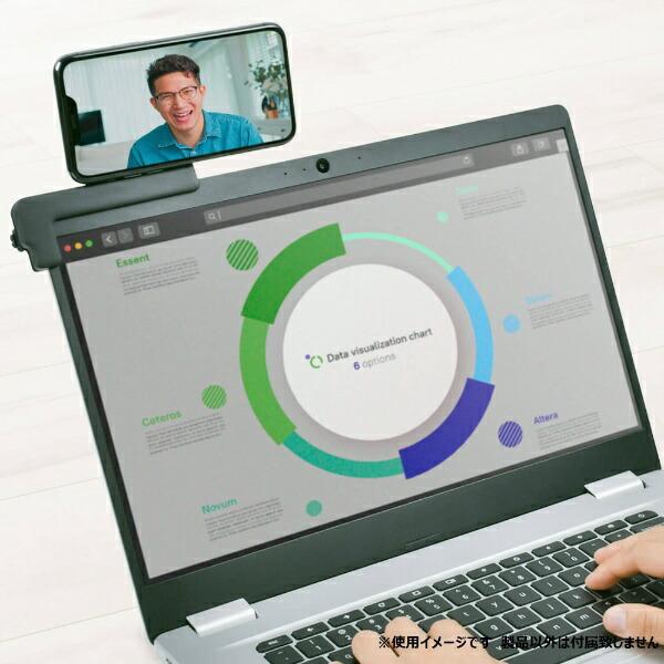 グリーンハウスGREENHOUSEノートPCタブレット用スマートホンホルダーブラックGH-SHA-BK